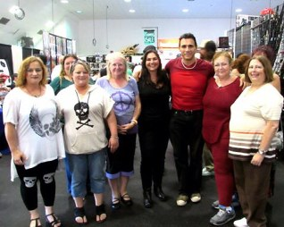 Adrian Paul with Adrian's Angels Ventura Comic Con September 2014